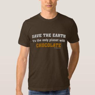 Ahorre la camiseta de la tierra camisas
