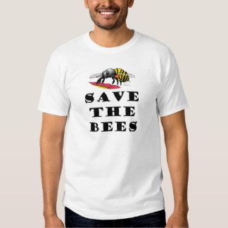 Ahorre la camiseta de las abejas playera
