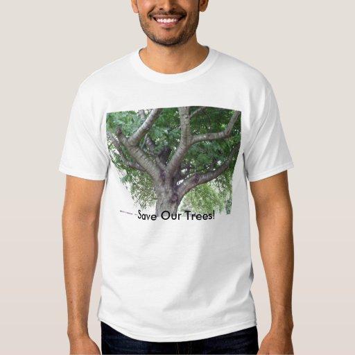 Ahorre la camiseta de los árboles poleras