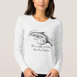 Ahorre la camiseta de los delfínes polera