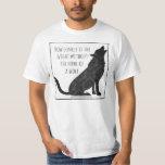 Ahorre la camiseta de los lobos remeras