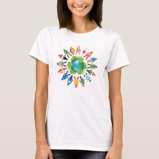 Ahorre la camiseta del diseño ambiental del mundo