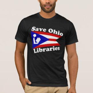 Ahorre la camiseta negra de las bibliotecas de