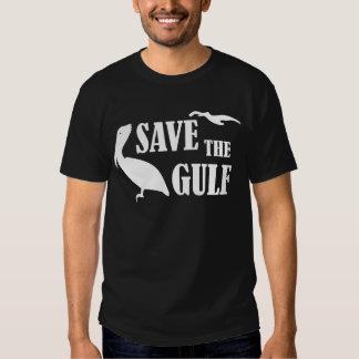 Ahorre la camiseta negra para hombre de la fauna polera