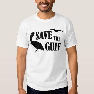 Ahorre la camiseta para hombre del golfo playeras