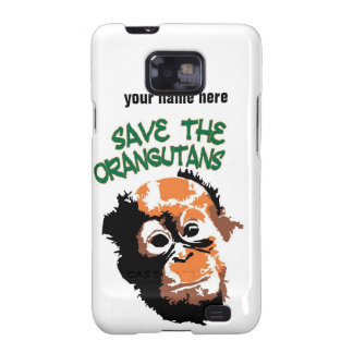 Ahorre la caridad de la fauna de los orangutanes galaxy SII fundas
