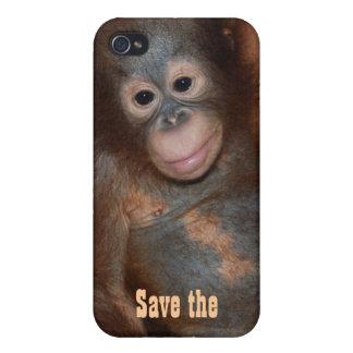 Ahorre la caridad de los orangutanes Fundraising iPhone 4/4S Carcasas