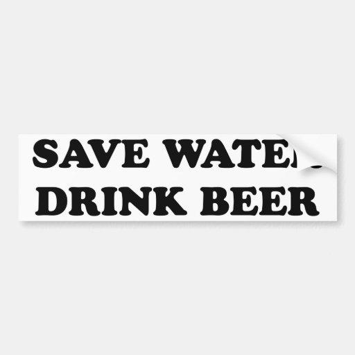 Ahorre la cerveza de la bebida del agua etiqueta de parachoque
