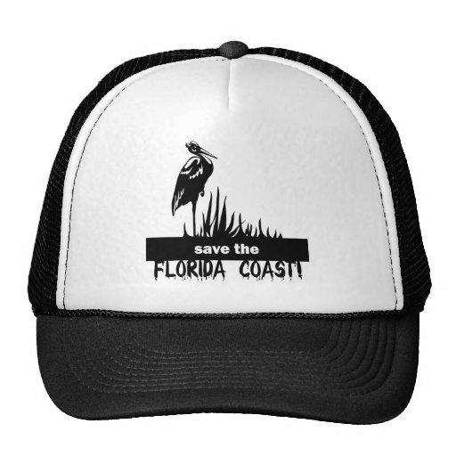 Ahorre la costa de la Florida Gorros Bordados