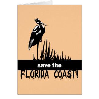 Ahorre la costa de la Florida Tarjeton