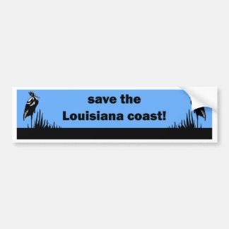 Ahorre la costa de Luisiana Pegatina Para Auto