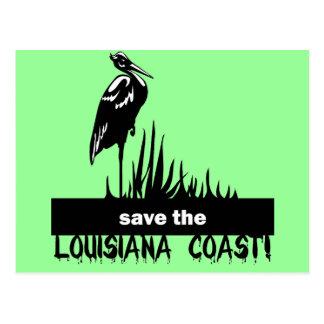 Ahorre la costa de Luisiana Postal