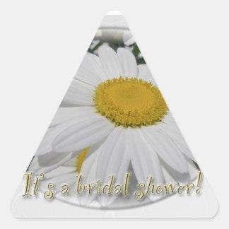 Ahorre la ducha nupcial del Wildflower de la Pegatina Triangular