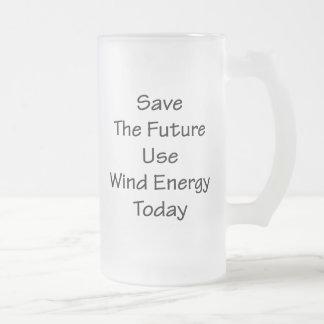Ahorre la energía eólica de uso futuro hoy tazas de café