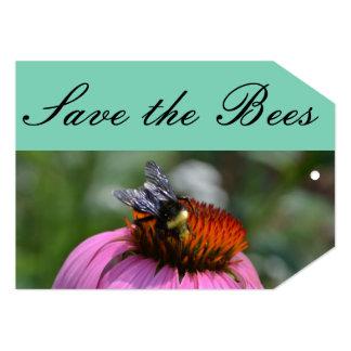 """Ahorre la etiqueta del regalo de las abejas invitación 5"""" x 7"""""""