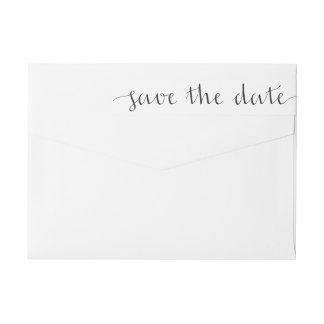 Ahorre la etiqueta envuelta del remite de la fecha etiquetas para remite