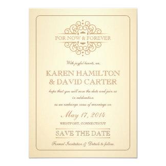 Ahorre la fecha - boda formal del Victorian del Comunicados
