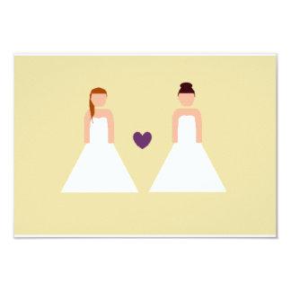"""Ahorre la fecha -- boda lesbiano invitación 3.5"""" x 5"""""""