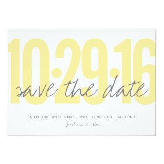 """Ahorre la fecha, boda, parte posterior de la foto invitación 5"""" x 7"""""""