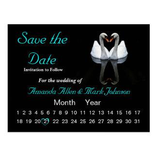 Ahorre la fecha, casando la invitación postales