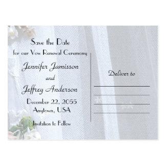 Ahorre la fecha, ceremonia de la renovación del tarjetas postales