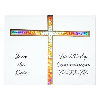 Ahorre la fecha - comunión - invitación invitación 10,8 x 13,9 cm