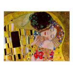 Ahorre la fecha con el beso de Gustavo Klimt Tarjetas Postales