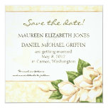 Ahorre la fecha - damasco de la magnolia invitaciones personales