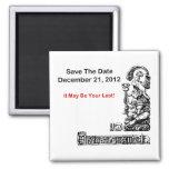 Ahorre la fecha, el 21 de diciembre de 2012 - la a imán cuadrado
