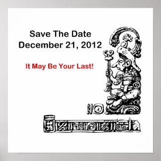 Ahorre la fecha el 21 de diciembre de 2012 - la a poster