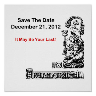 Ahorre la fecha, el 21 de diciembre de 2012 - la a póster