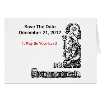 Ahorre la fecha, el 21 de diciembre de 2012 - la a tarjeta pequeña