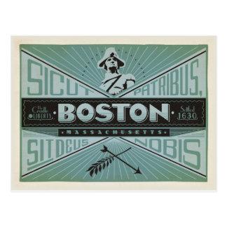 Ahorre la fecha el | Boston, mA - establecido 1630 Tarjetas Postales