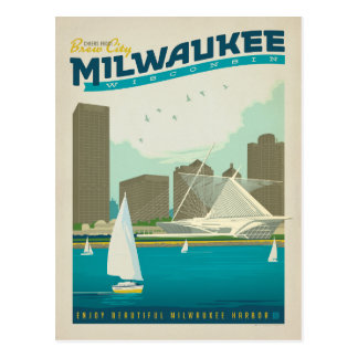 Ahorre la fecha el | Milwaukee, WI Tarjeta Postal