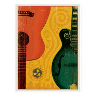 Ahorre la fecha el | Nashville, TN - guitarra de Tarjetas Postales