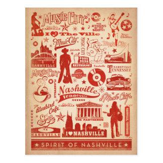 Ahorre la fecha el | Nashville, TN - impresión del Tarjetas Postales