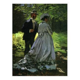 ¡Ahorre la fecha! El Promenaders de Monet Tarjetas Postales