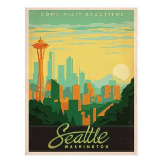 Ahorre la fecha el   Seattle, WA Tarjetas Postales