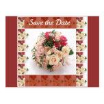 Ahorre la fecha floral tarjetas postales