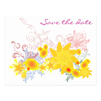 Ahorre la fecha - flores tarjetas postales