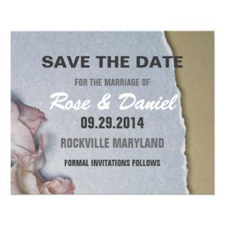 Ahorre la fecha flyer personalizado