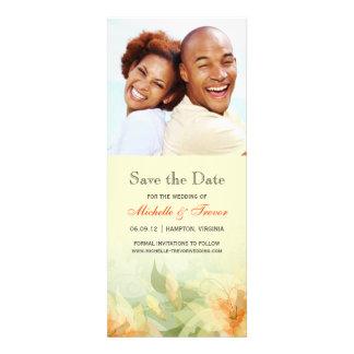 Ahorre la fecha - foto floral de la mandarina amar anuncios