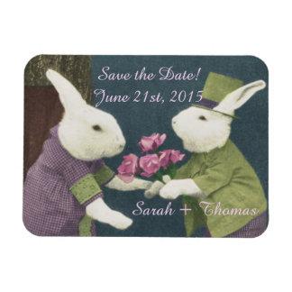 ¡Ahorre la fecha! Imán del amor del conejito
