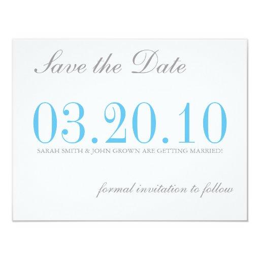 """Ahorre la fecha invitación 4.25"""" x 5.5"""""""