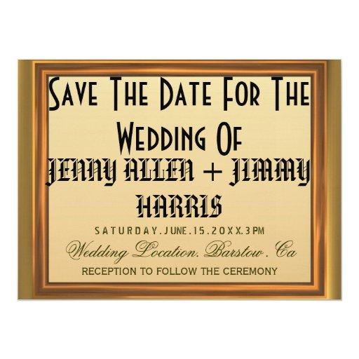Ahorre la fecha invitacion personalizada