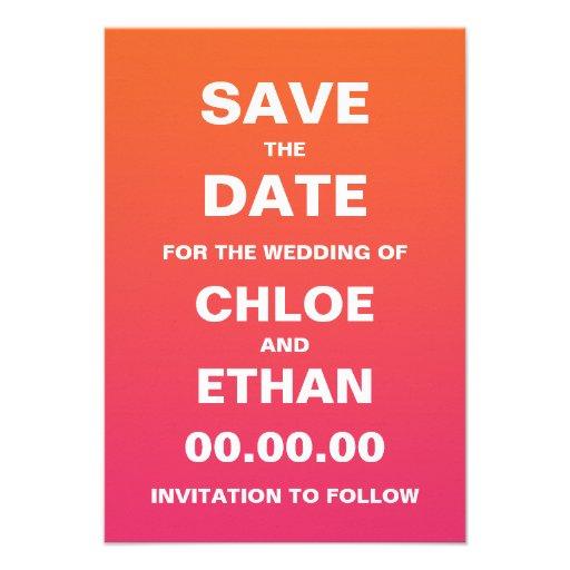 Ahorre la fecha invitaciones personalizada