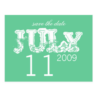 Ahorre la fecha - julio - modificada para tarjeta postal