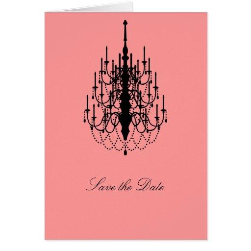 Ahorre la fecha (la lámpara) tarjeta de felicitación