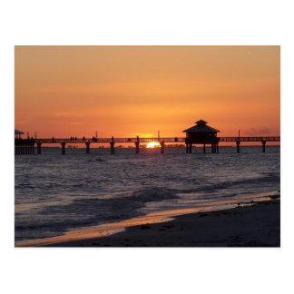 Ahorre la fecha la playa adaptable de la puesta postales