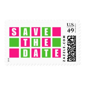 Ahorre la fecha (las cajas cuadradas de la rosa franqueo